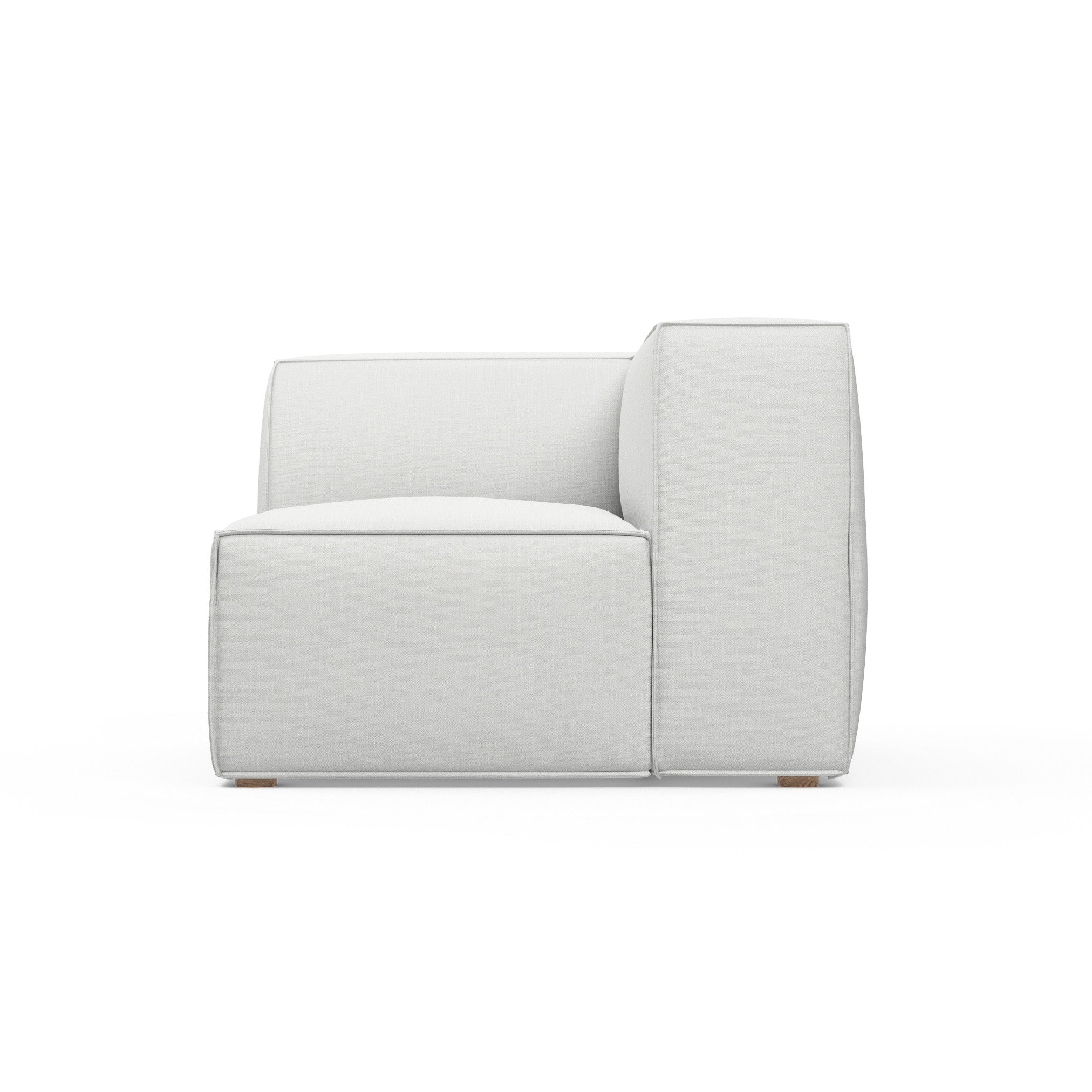 Varick Corner Chair - Blanc Box Weave Linen