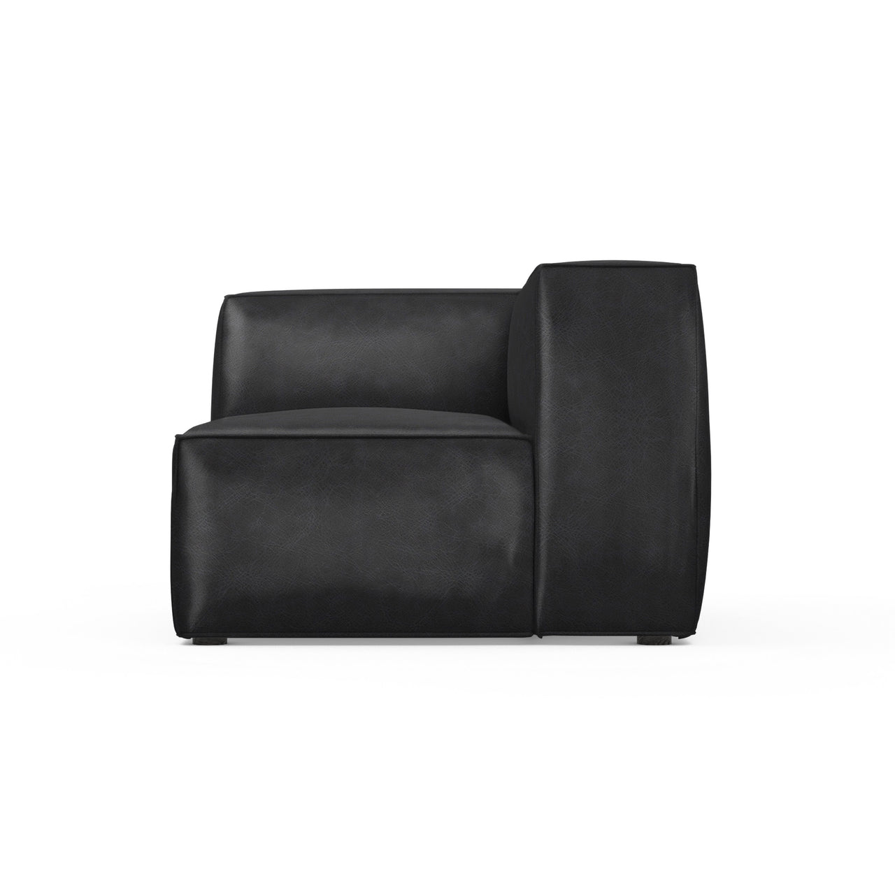 Varick Corner Chair - Black Jack Vintage Leather