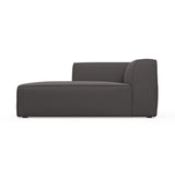 Varick Single-Arm Chaise - Graphite Box Weave Linen