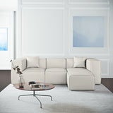 Varick Left-Chaise Sectional - Alabaster Box Weave Linen