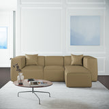 Varick Left-Chaise Sectional - Marzipan Box Weave Linen