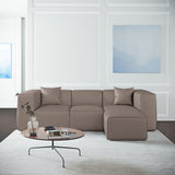 Varick Left-Chaise Sectional - Pumice Box Weave Linen