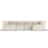 Varick U-Chaise Sectional - Oyster Box Weave Linen