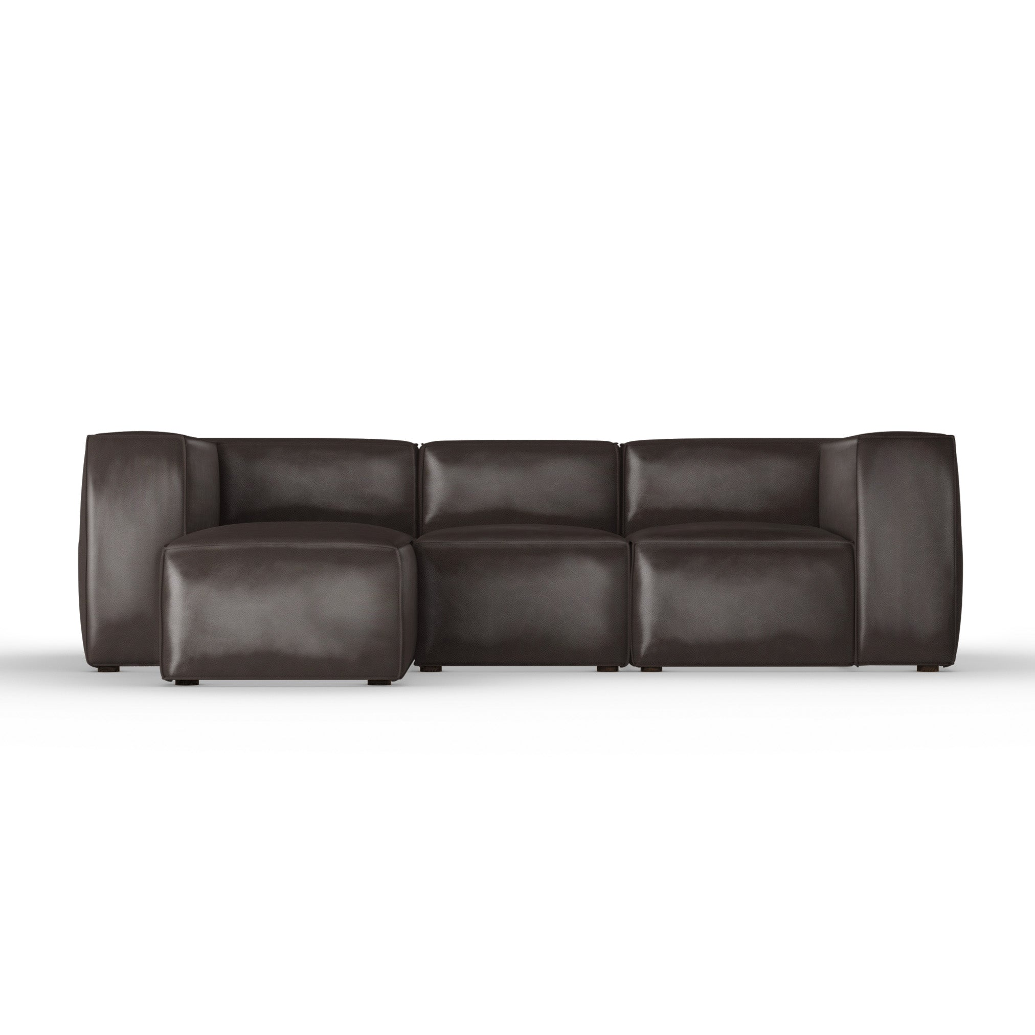 Varick Left-Chaise Sectional - Chocolate Vintage Leather