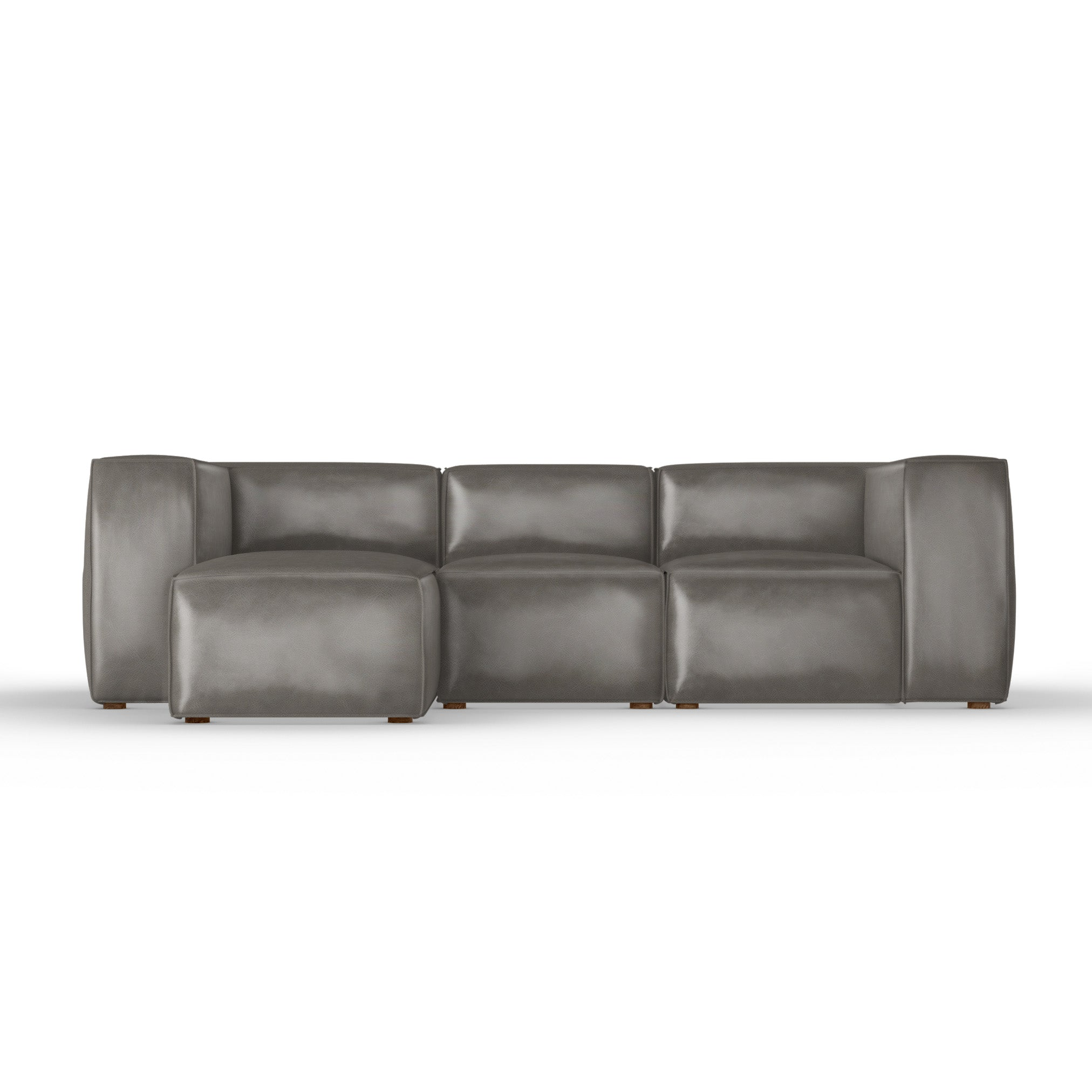 Varick Left-Chaise Sectional - Pumice Vintage Leather