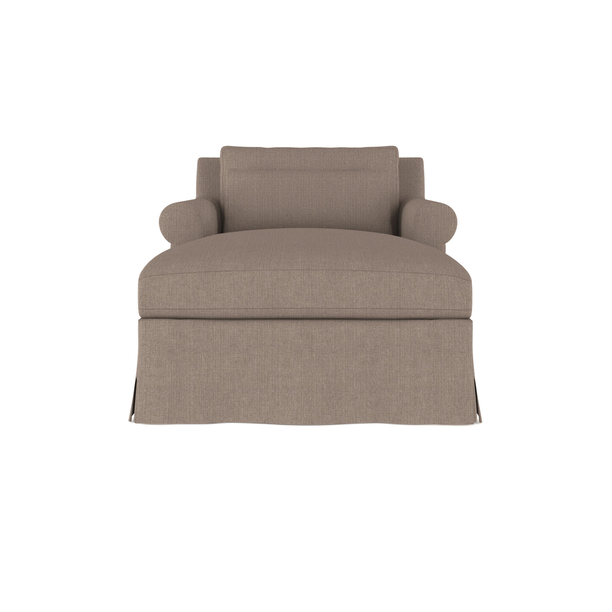 Ludlow Chaise - Pumice Box Weave Linen