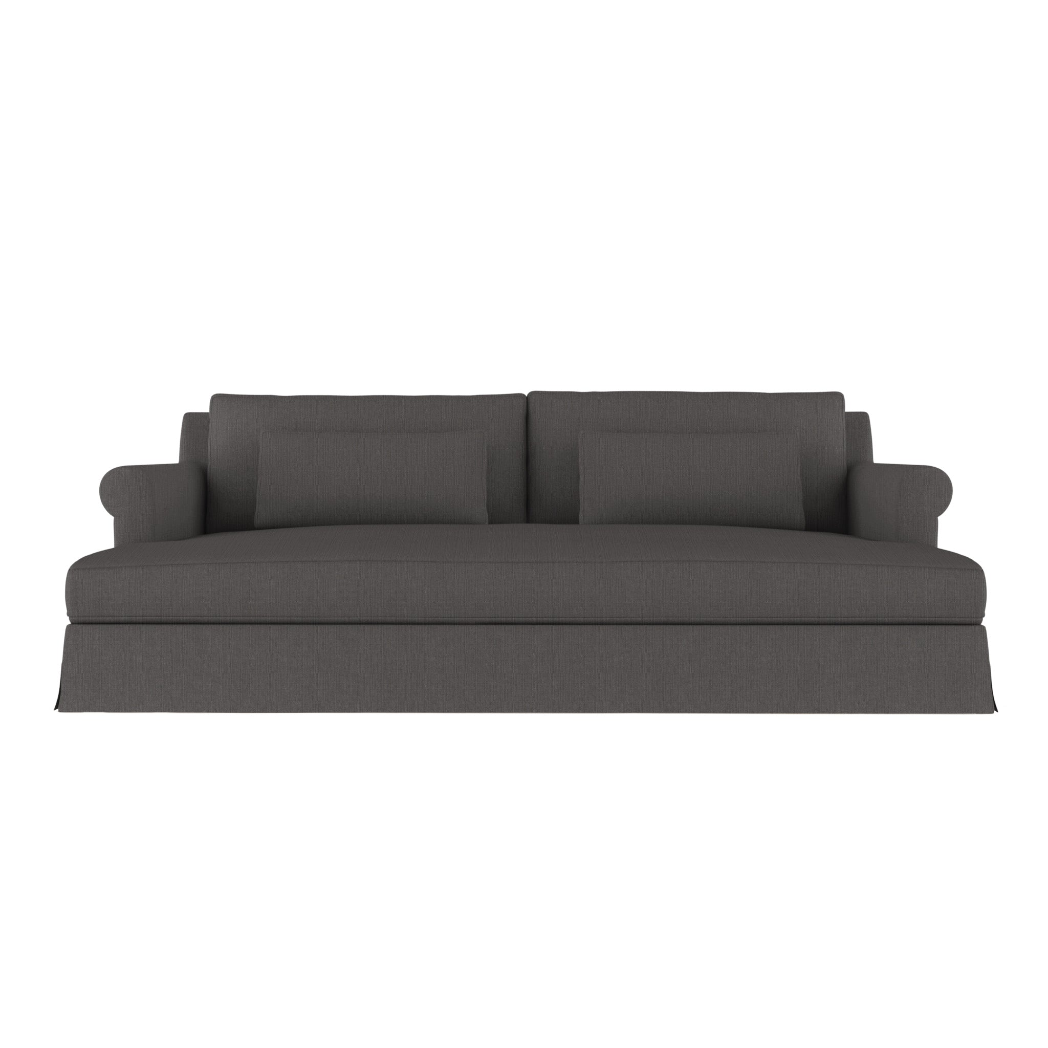 Ludlow Daybed - Graphite Box Weave Linen