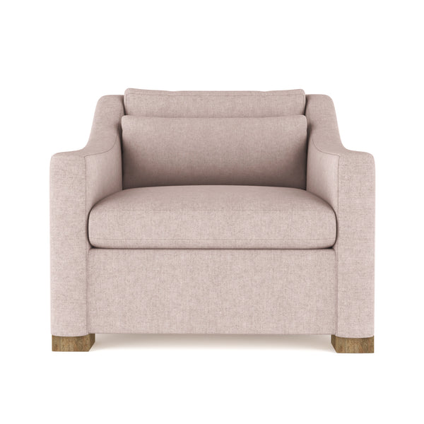 Crosby Chair - Blush Plush Velvet