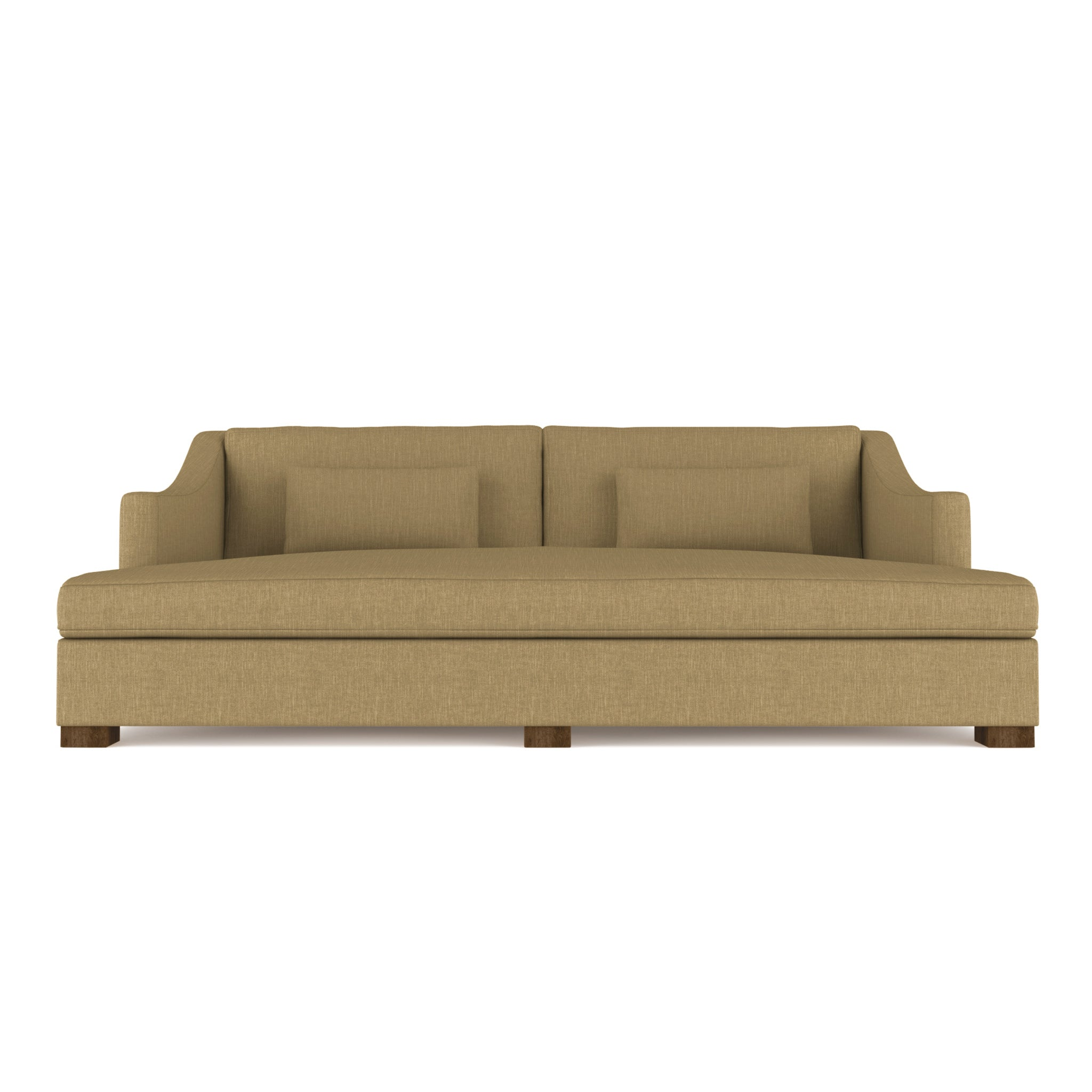 Crosby Daybed - Marzipan Box Weave Linen
