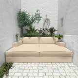 Mulberry Daybed - Alabaster Box Weave Linen