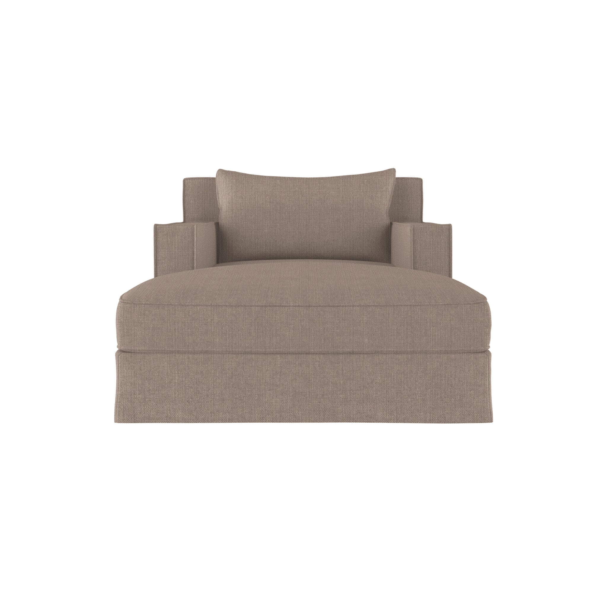 Mulberry Chaise - Pumice Box Weave Linen