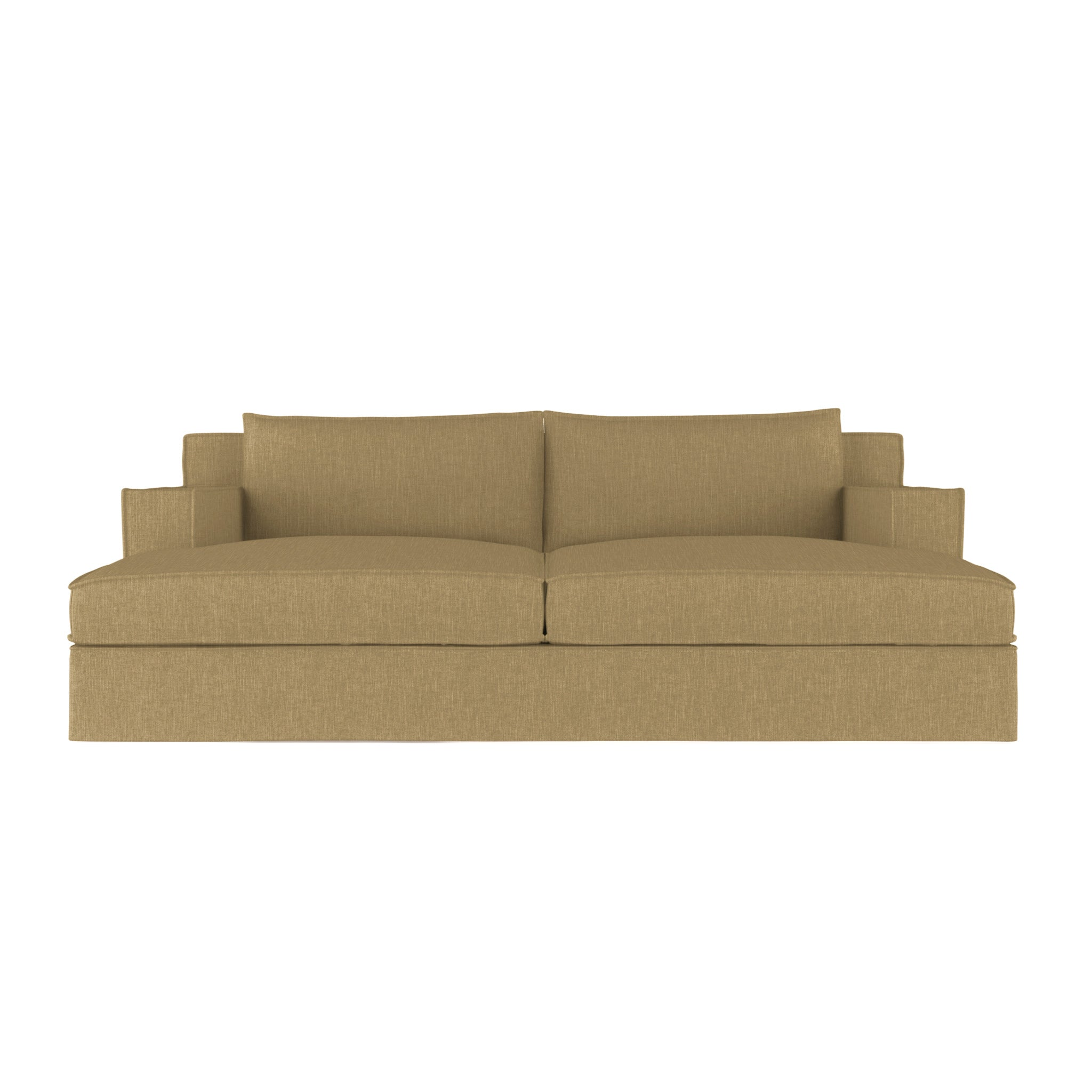 Mulberry Daybed - Marzipan Box Weave Linen