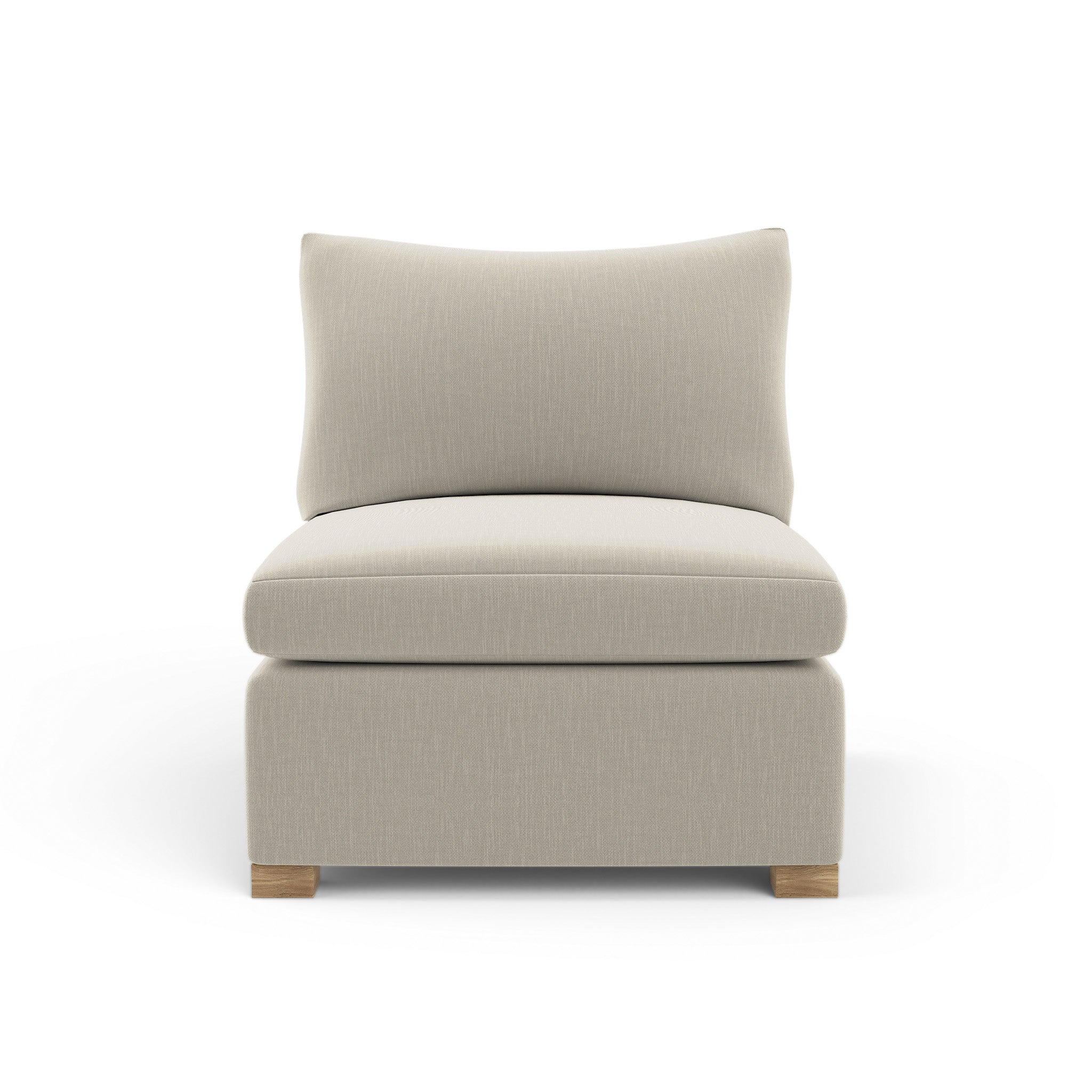 Evans Armless Chair - Oyster Box Weave Linen