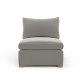 Evans Armless Chair - Silver Streak Box Weave Linen