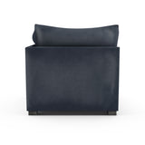 Evans Corner Chair - Blue Print Vintage Leather