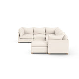 Evans 7-Piece U-Shape Sectional - Alabaster Plush Velvet