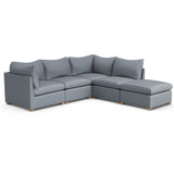 Evans 5-Piece Corner Sectional - Haze Plush Velvet