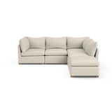 Evans 5-Piece Corner Sectional - Oyster Box Weave Linen