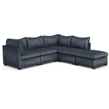 Evans 5-Piece Corner Sectional - Blue Print Vintage Leather