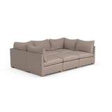 Evans 6-Piece Total-Pit Sectional - Pumice Box Weave Linen