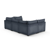 Evans 6-Piece Total-Pit Sectional - Blue Print Vintage Leather