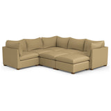 Evans 7-Piece Pit Sectional - Marzipan Box Weave Linen