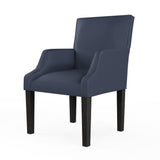 Juliet Dining Chair - Blue Print Box Weave Linen