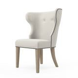 Nina Dining Chair - Alabaster Box Weave Linen