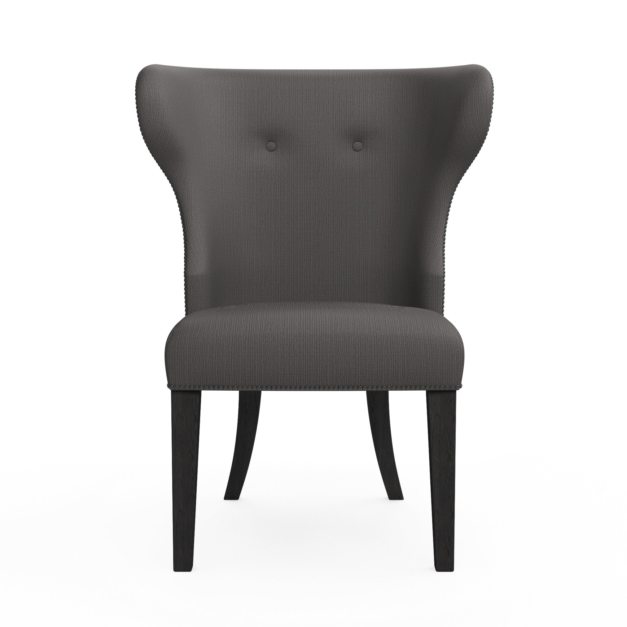Nina Dining Chair - Graphite Box Weave Linen