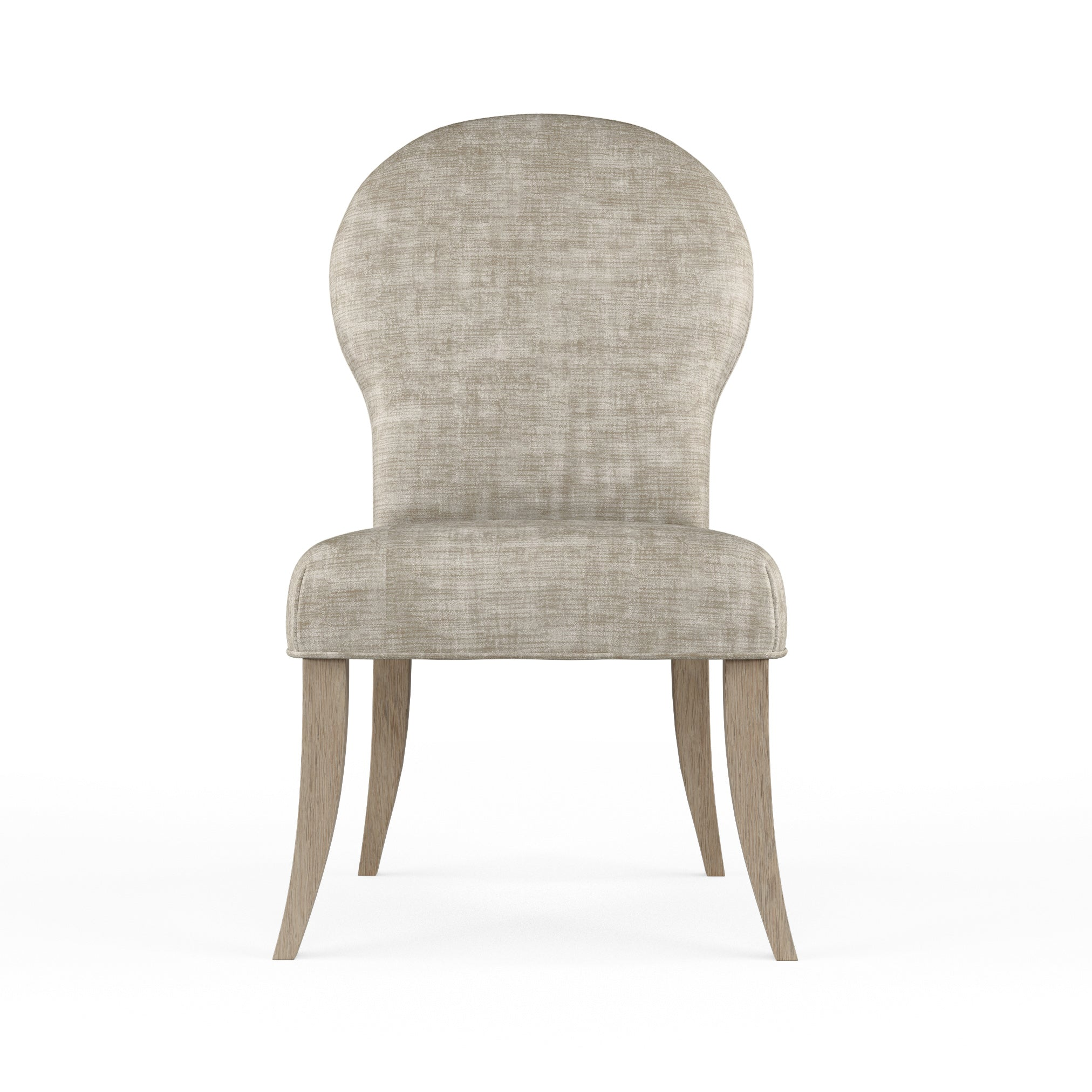 Caitlyn Dining Chair - Oyster Crushed Velvet