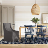 Serena Dining Chair - Graphite Box Weave Linen