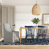 Serena Dining Chair - Silver Streak Box Weave Linen