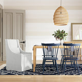 Serena Dining Chair - Blanc Box Weave Linen
