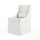 Serena Dining Chair - Alabaster Crushed Velvet
