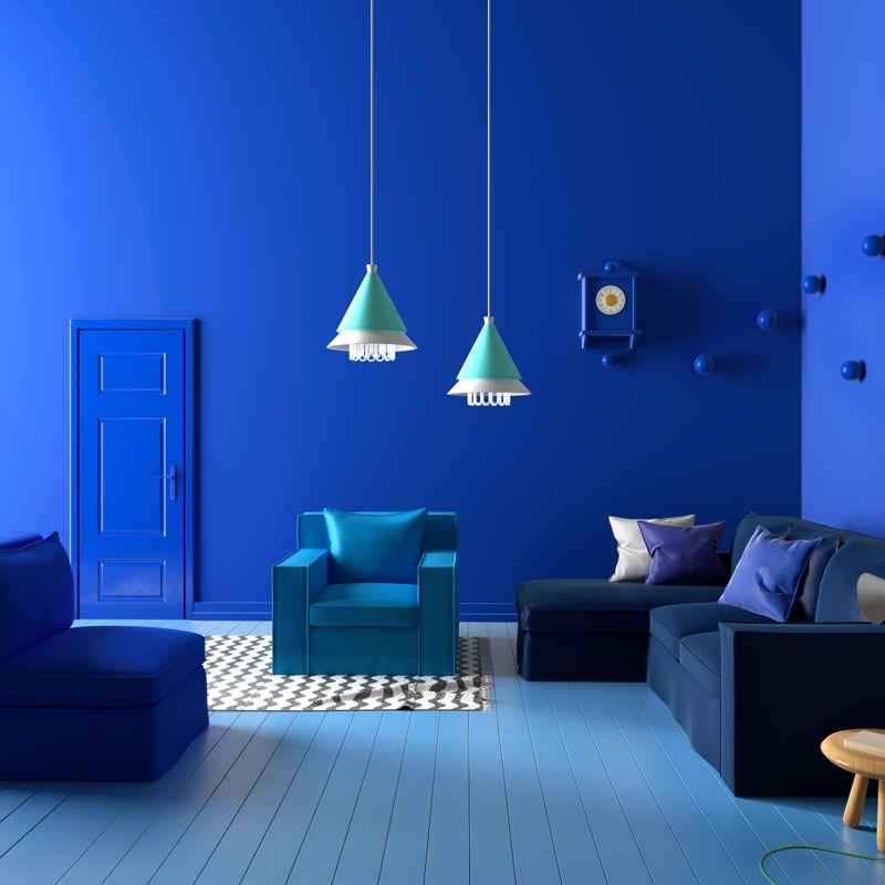 Shop by Size - Image of Blue Furniture in a Blue Room