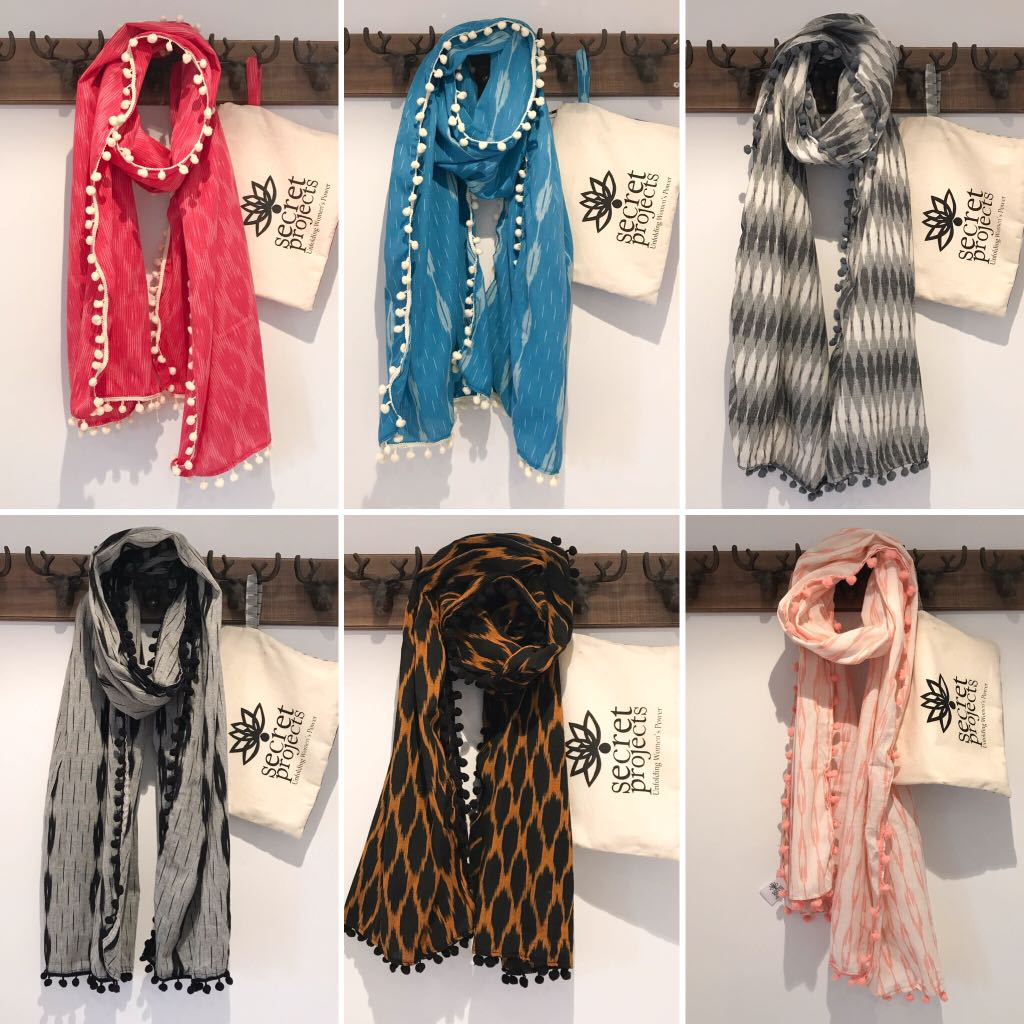 Secret Scarf Ikkat Collection