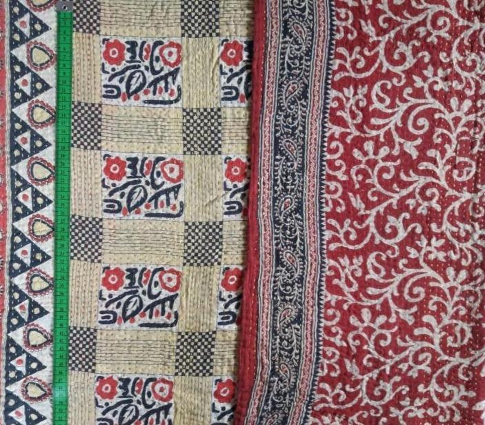 Chessboard Kantha Blanket (single)