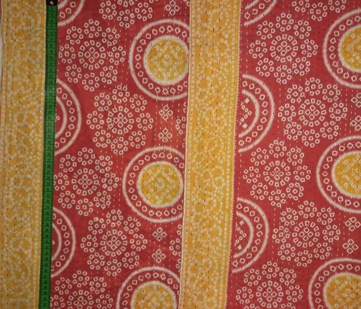 Red Jaipur Kantha Blanket (single)