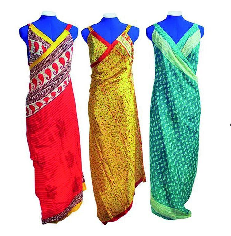 Secret Sari Dress made from a new 100% Silk Blend Sari with Shipping