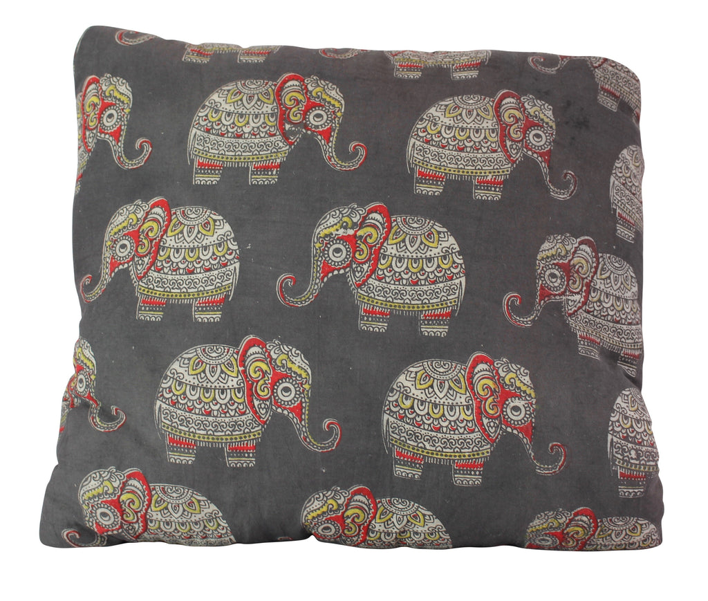 Baby Elephants Secret Pillow in Black