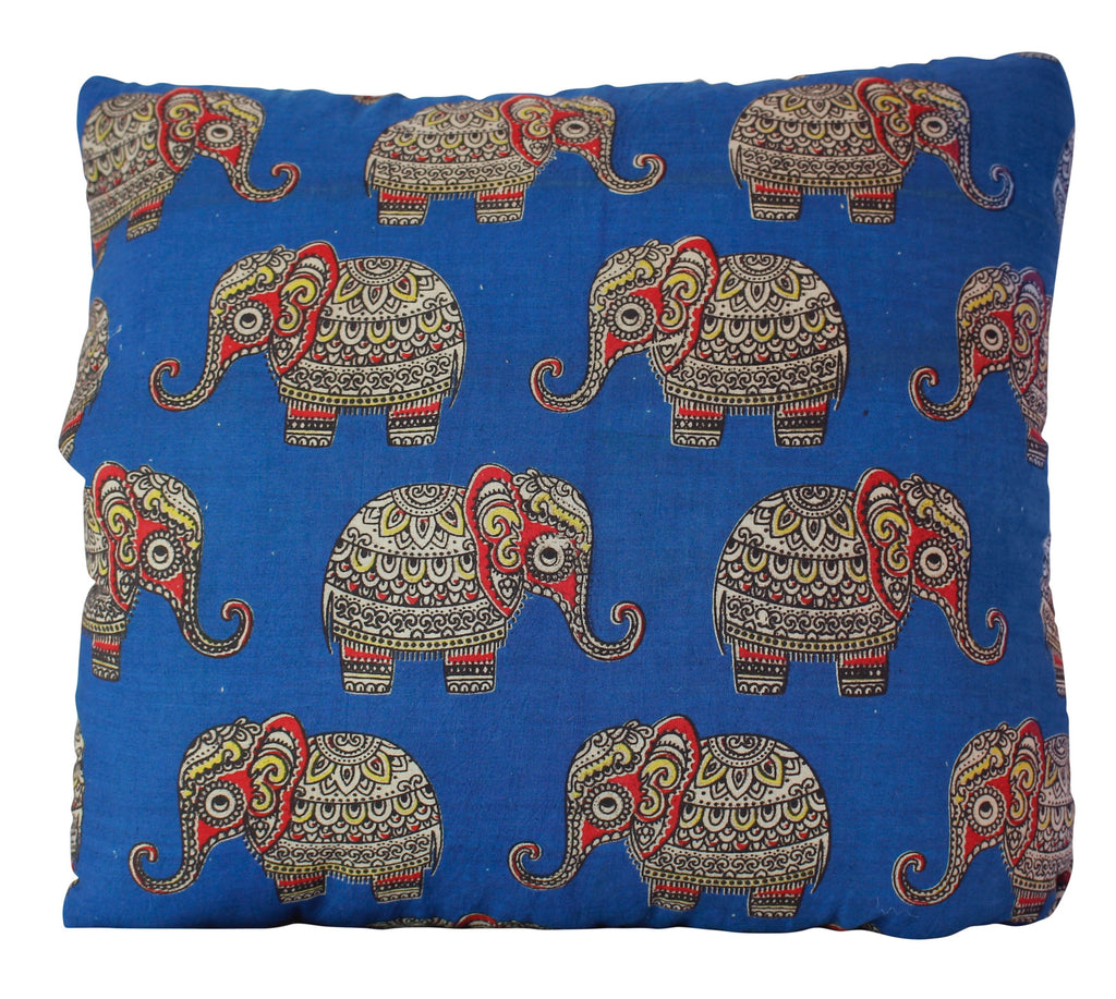 Baby Elephants Blue Secret Pillow
