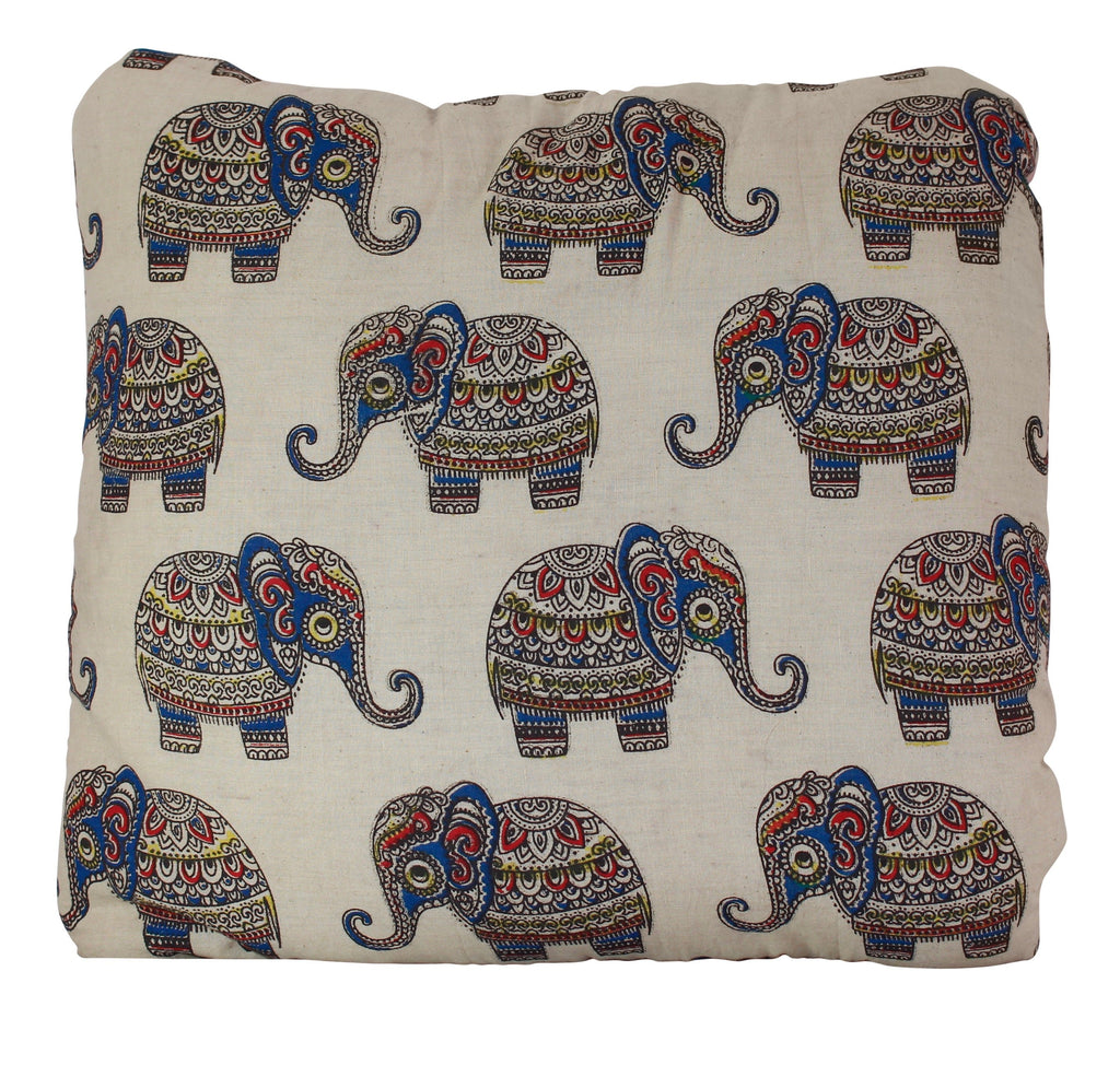 Baby Elephants Secret Pillow in Cream