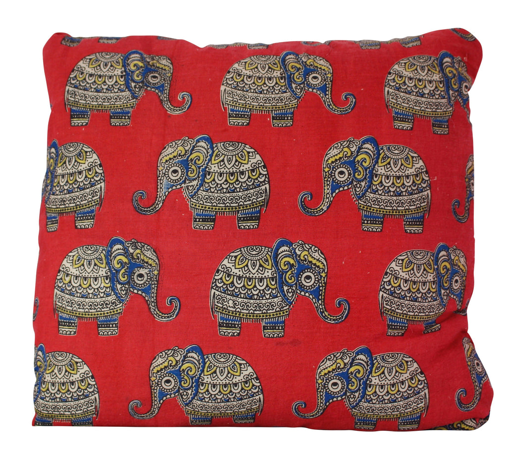 Baby Elephants Secret Pillow in Red