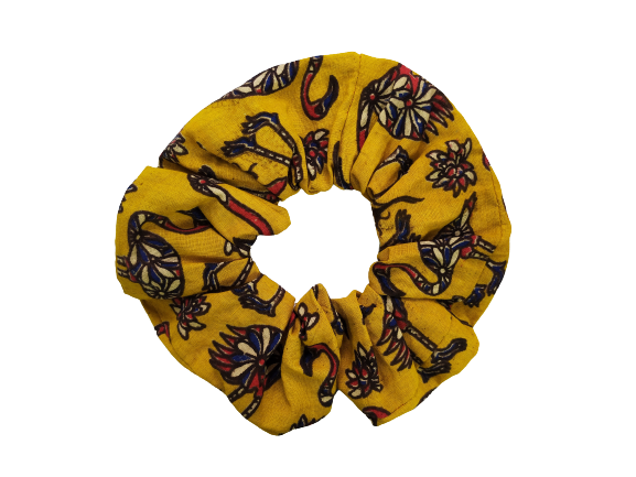 Secret Scrunchie Large-Flamingo Yellow