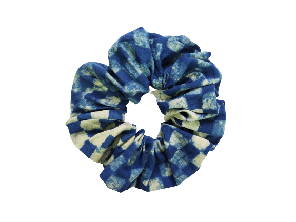 Secret Scrunchie Large-Blue Square