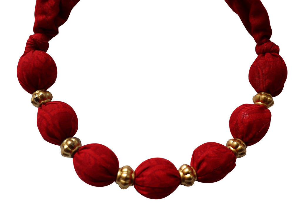 Ruby Secret Sari Necklace
