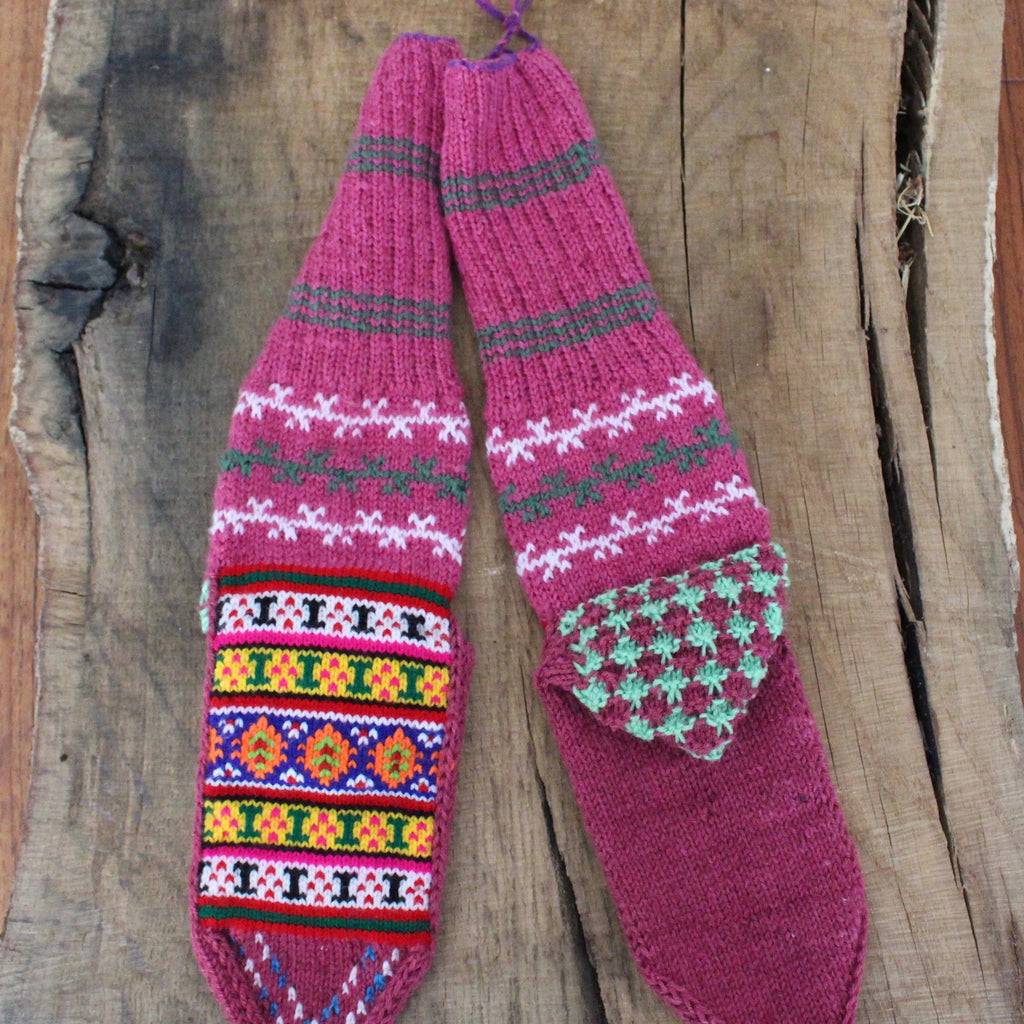 Polly Crest LARGE Secret Spiti Socks