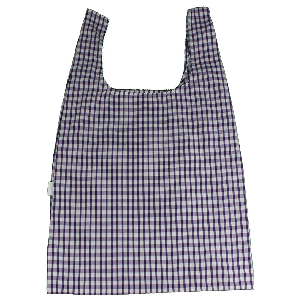 Purple Gingham Secret Shopping Bag