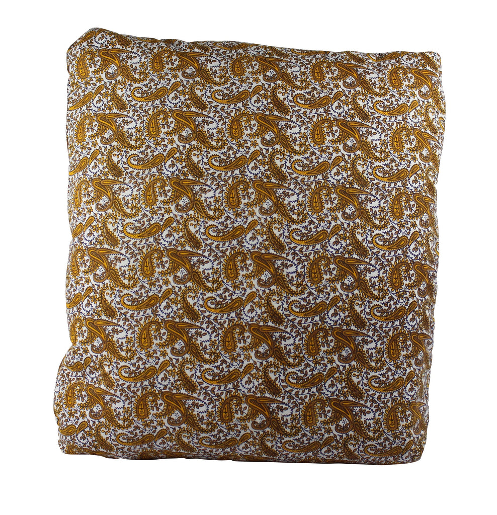 Mustard Paisley Secret Pillow