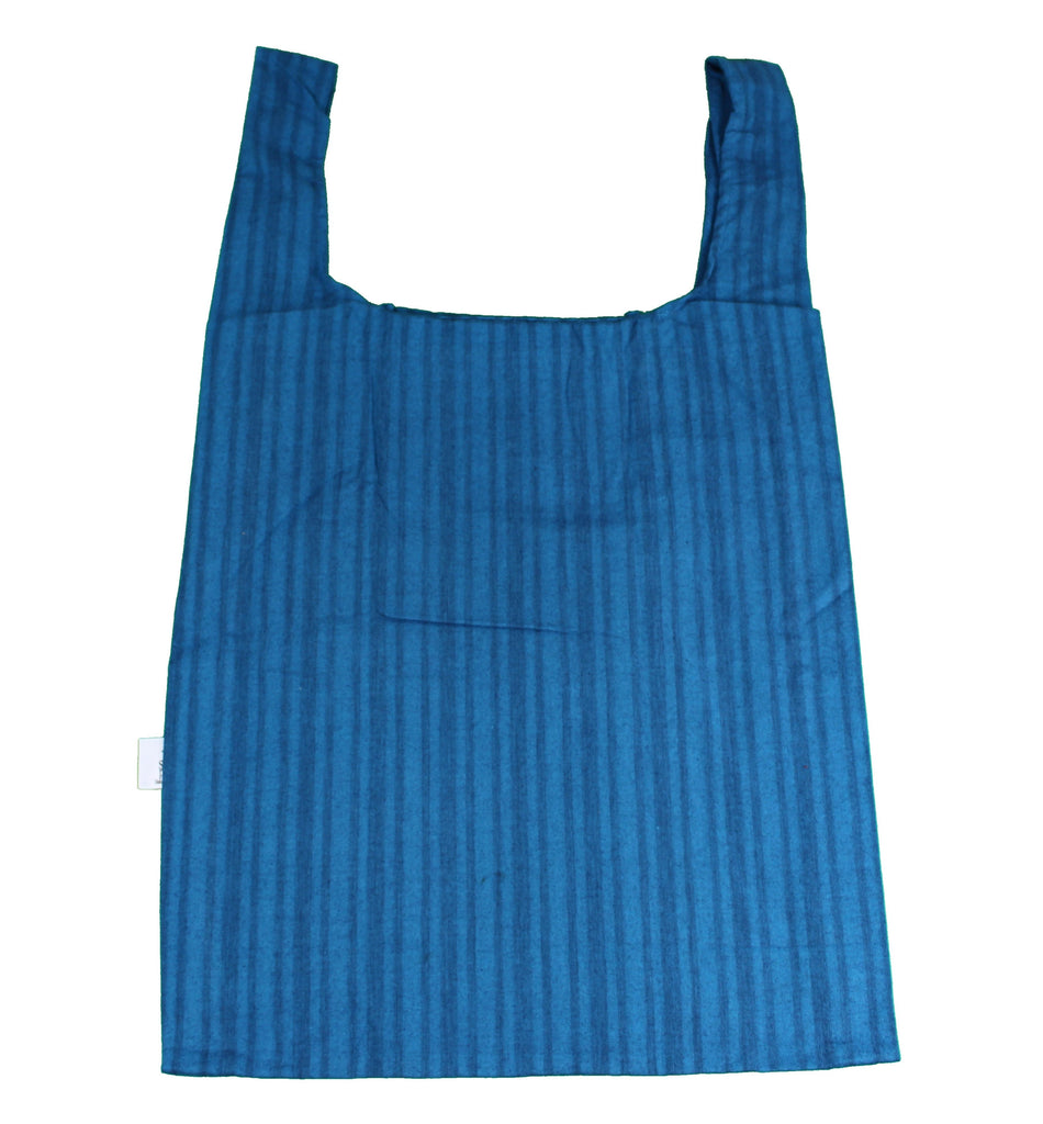 Navy Stripe Secret Shopping Bag